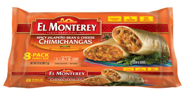 SPICY JALAPENO BEAN CHEESE CHIMICHANGAS